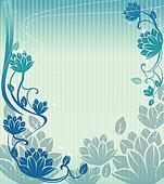 blue lotus background