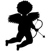 Cupid Silhouette for Valentines Day