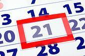 21 calendar day