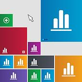 Growth and development concept. graph of Rate icon sign. Metro style buttons. Modern interface website buttons with cursor pointer.