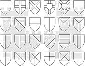 stencils of division fo the shield
