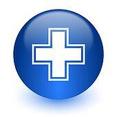 pharmacy computer icon on white background