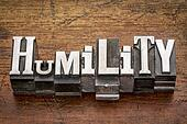 humility word in metal type