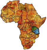 tanzania old map