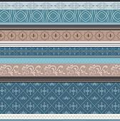 Blue retro flower pattern
