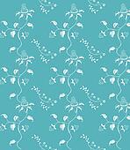 Blue seamless damask background