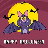Funny Vampire Bat Greeting Card