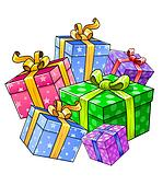 holiday gift presents isolated