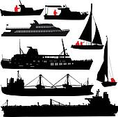 Ship silhouettes