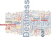 Deafness word cloud