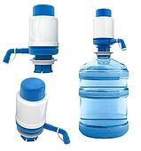bottle with water pump