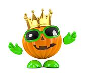 3d King pumpkin