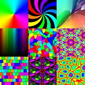 Set of rainbow pattern textures