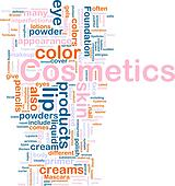 Cosmetics products background concept