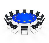 European Union Round Meeting Table