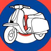 Scooter vector illustration retro vintage pop