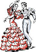 Flamenco Clip Art - Royalty Free - GoGraph