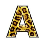 3d letter with panther skin texture - A