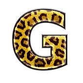 3d letter with panther skin texture - G