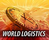 International logistics management concept