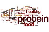 Protein word cloud