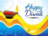 artistic happy diwali background