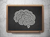 Medicine concept: Brain on chalkboard background