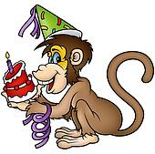 Monkey Happy Birthday