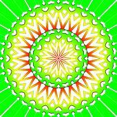 light green flower mandala
