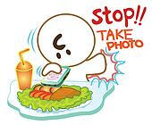 Stop take photo food by mobie