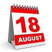 Calendar. 18 August.