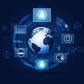Communication Concept Blue Technology Background