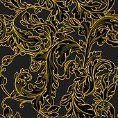Baroque floral  pattern.