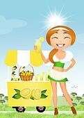 selling lemonade