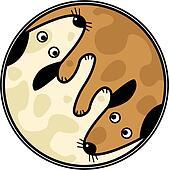 Yinyang dogs