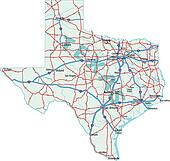 Texas State Road Map