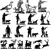 hunting collection silhouettes