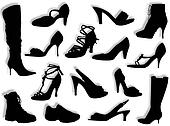Shoes and boots silhouettes