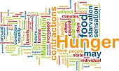 Hunger background concept