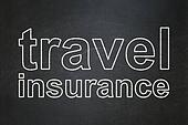 Insurance concept: Travel Insurance on chalkboard background