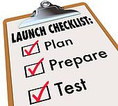 Launch Checklist Plan Prepare Test New Product Business