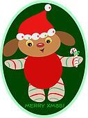 Christmas Peppermint Dog