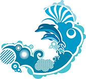 Dolphins Clip Art - Royalty Free - GoGraph