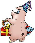 Pig with Gifts