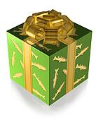 Present Green with Fish and Gold band