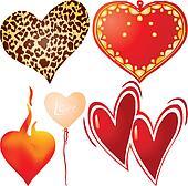 Set of valentine`s hearts, part 7