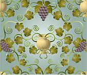 grape tile pattern design