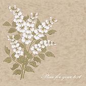 Retro floral vector pattern