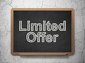 Business concept: Limited Offer on chalkboard background