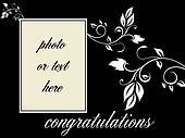 congratulations - left hand portrait